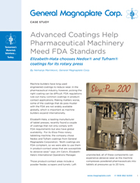 FDA Approved coatings for pharmaceutical case study