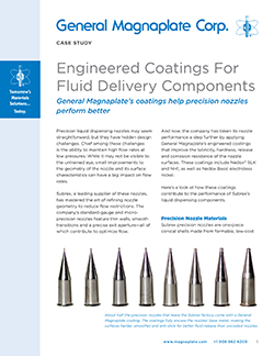 Engineering coatings for fluid delivery components case study